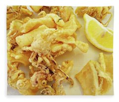 Calamari Fritti Fleece Blanket