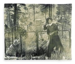 Calamity Jane At Wild Bill Hickoks Fleece Blanket