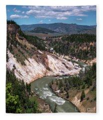 Calcite Springs Overlook  Fleece Blanket