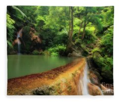Caldeira Velha - Azores Islands Fleece Blanket