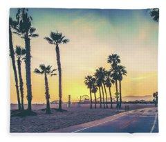 Cali Sunset Fleece Blanket