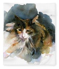 Calico Cat Fleece Blanket