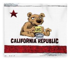 California Budget Begging Fleece Blanket
