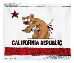 California Budget Harakiri Fleece Blanket
