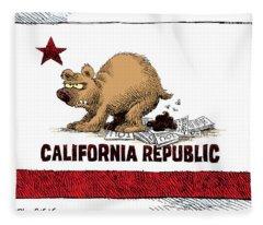 California Budget Iou Fleece Blanket