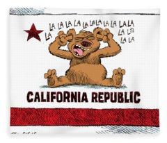 California Budget La La La Fleece Blanket