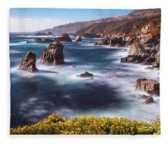 California Coastline  Fleece Blanket