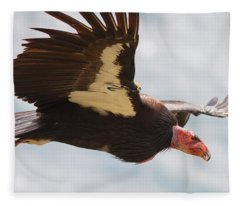 California Condor At Big Sur Fleece Blanket