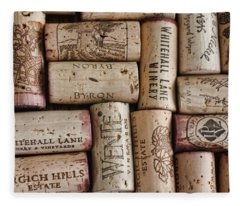 California Corks Fleece Blanket