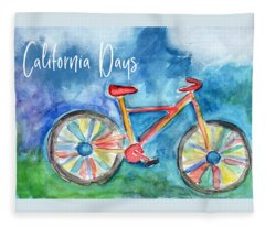 California Days - Art By Linda Woods Fleece Blanket