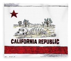 California Drought Fleece Blanket