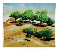 California Golden Hills Fleece Blanket