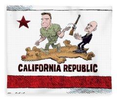 California Governor Handoff Fleece Blanket