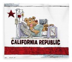 California Is Sick Fleece Blanket