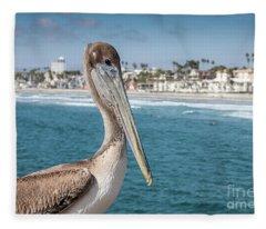 California Pelican Fleece Blanket
