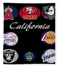 California Professional Sport Teams Collage  Fleece Blanket