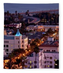 California Street At Ventura California Fleece Blanket