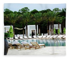 Caliza Pool In Alys Beach Fleece Blanket