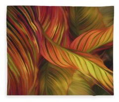 Fleece Blanket featuring the mixed media Calla Dream 16 by Lynda Lehmann