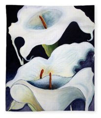 Calla Lilies.. Fleece Blanket