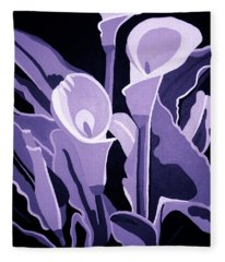 Calla Lillies Lavender Fleece Blanket