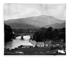 Callander Bridge And Ben Ledi Fleece Blanket