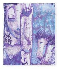 Calling Upon Spirit Animals Fleece Blanket