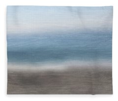 Calm Coast 2-  Art By Linda Woods Fleece Blanket