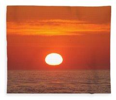 Calm Seas Sunrise Fleece Blanket