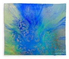 Calm Waters Abstract Fleece Blanket