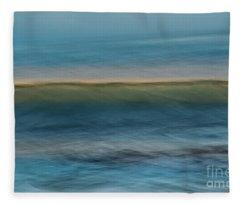Calming Blue Fleece Blanket