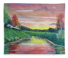 Calming Sunset Fleece Blanket