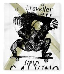 Calvino Traveller Poster  Fleece Blanket