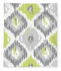 Calyx Ikat Pattern Fleece Blanket