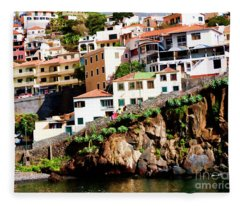 Camara De Lobos On The Island Of Madeira Fleece Blanket