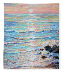 Cambria Sunset Fleece Blanket