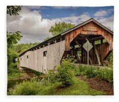 Cambridge Junction Bridge Fleece Blanket