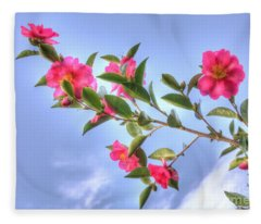 Camellia Fleece Blanket