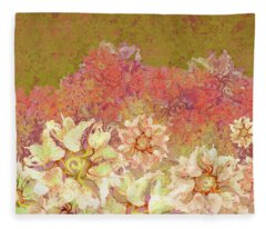 Camellia Hedges Fleece Blanket