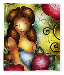 Lady Camellia Fleece Blanket