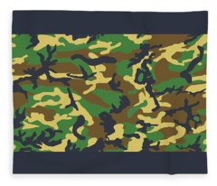 Camo 1 Fleece Blanket