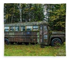 Camp Bus Fleece Blanket