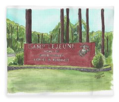 Camp Lejeune Welcome Fleece Blanket