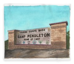 Camp Pendleton Welcome Fleece Blanket