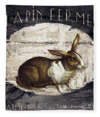 Campagne Iv Rabbit Farm Fleece Blanket