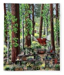 Camping Paradise Fleece Blanket