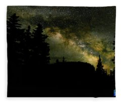 Camping Under The Milky Way 2 Fleece Blanket