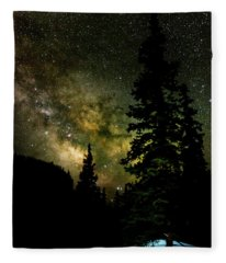 Camping Under The Milky Way Fleece Blanket