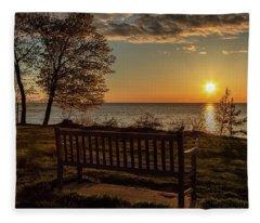 Campus Sunset Fleece Blanket