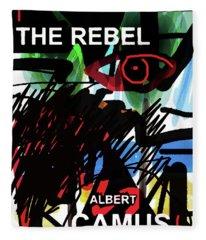Camus The Rebel  Poster Fleece Blanket